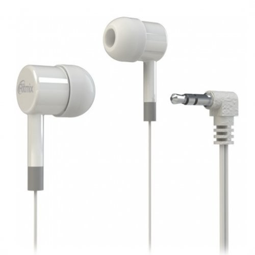 Наушники Ritmix RH-003, Белый ,Headphone 32 Ohm, 20-20000Hz, 100dB, 1.2m, white