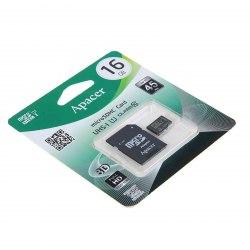 Карта памяти microSDHC 16GB Apacer AP16GMCSH10U1-R MemoryCard Class 10, 80R/20W, + adapter SD