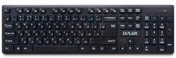 Клавиатура, Delux, DLK-150GB, Ультратонкая, Беспроводная 2.4ГГц