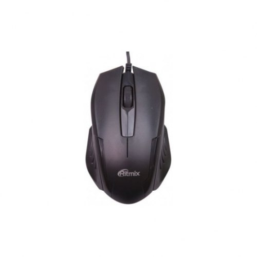 Мышь Ritmix ROM-300, Черный ,Mouse optical, 2+1 buttons, USB, 800dpi, black