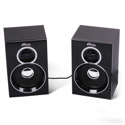 SPK active Ritmix SP-2013w (2.0), RMS 3Wx2, USB power, Black Ritmix SP-2013w