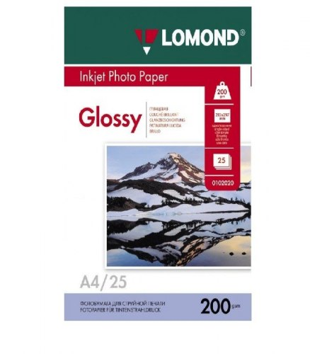 LOMOND Inkjet Photo Paper A4 210x297/25 200gsm