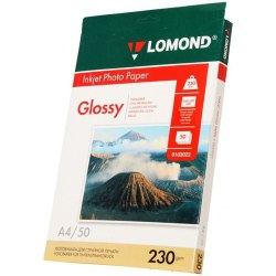 LOMOND Inkjet Photo Paper Glossy A4 210x297/25 230gsm