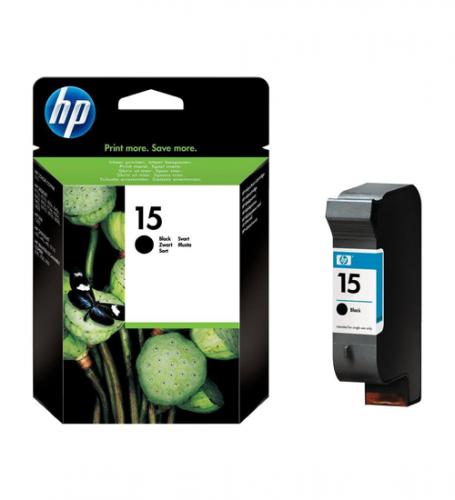 Картридж Large Black Inkjet Print Cartridge №15 for DJ840/845 , 25 ml, up to 495 pages, 5%. C6615DE