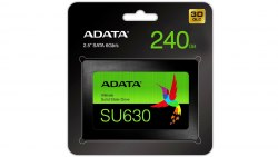 Твердотельный накопитель SSD ADATA Ultimate SU630, 240 GB SATA ASU630SS-240GQ-R, SATA 6Gb/s, 3D QLC