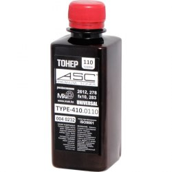 Тонер ASC черный (black) HP toner Universal OEM TYPE 110г -1010