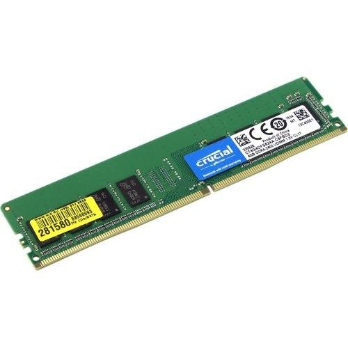 Модуль памяти Crucial, CT4G4DFS824A, DDR4, 4 GB ,DIMM <PC4-19200/2400MHz> 8 chip, box