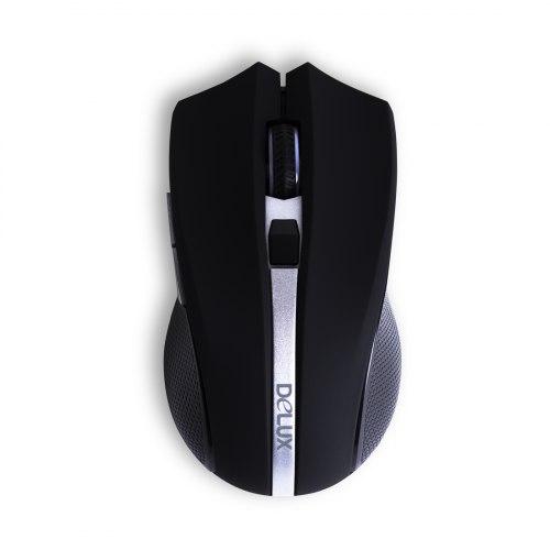 Компьютерная мышь, Delux, DLM-516OGB, 3D, Оптическая, 1600 dpi, Чёрный