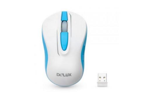 Компьютерная мышь, Delux, DLM-137OGW, 3D, Оптическая, 1000dpi, Беcпроводная