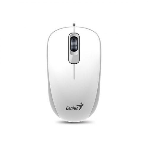Компьютерная мышь, Genius, DX-110, Оптическая, 1000dpi, USB, Длина кабеля 1,6 метра, Белая
