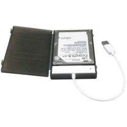 """Коробка для 2,5"""" жестких дисков Agestar SUBCP1, Черный ,External Case SATA to USB 2.0, power via USB, black"""