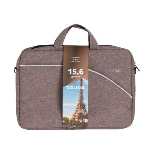 """Сумка для ноутбука, Deluxe, Paris NEW 15.6"""" (DLNB-102 Brown), 15.6"""", Лёгкая"""