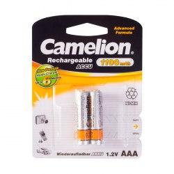 Аккумулятор, CAMELION, NH-AAА1100BP2, Rechargeable, AAA, 1.2V, 1100 mAh, 2 шт. в блистере