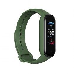 """Смарт часы, Amazfit, Band 5 A2005, 1.1"""", Разрешение экрана 126 x 294,125 мАч, 5 ATM, Аккумулятор до 15 дней, 11 спорт режимов, Зеленый"""