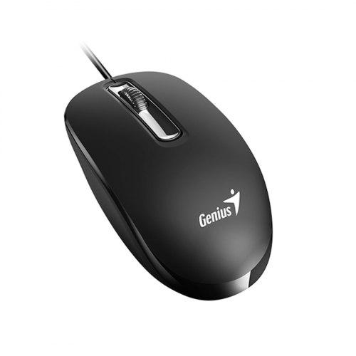 Компьютерная мышь, Genius, DX-130, Оптическая, 1000dpi, USB, Длина кабеля 1,6 метра, Черная