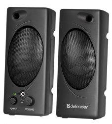 Акустическая система Defender 50, Черный SPK active (2.0), 3W*2, USB power, 200-20000 Hz, black
