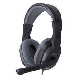 Гарнитура Ritmix RH-534M, Черный-серый ,Garnitura 32 Ohm, 20-20000Hz, 105dB, 2m cable, volume control, black-grey