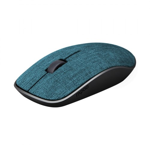 Компьютерная мышь, Rapoo, 3510 Plus BLUE, 1000 dpi,Беспроводной 2.4 ГГц, Нано-ресивер, Эффективная дистанция 10 м., Батарейки в комплекте, Синий