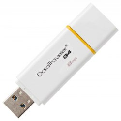 Флешка Kingston USB , DTIG4, 8GB flash DTIG4/8GB USB 3.0, white