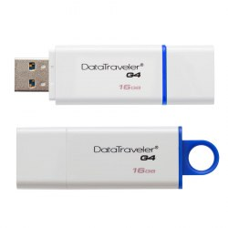 Флешка Kingston USB , DTIG4, 16GB flash DTIG4/16GB USB 3.0, white