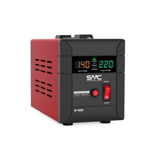 Стабилизатор (AVR), SVC, R-600, 600ВА/500Вт, Диапазон работы AVR: 140-260В,