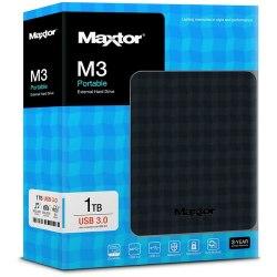 """Внешний жёсткий диск Seagate STSHX-M101TCBM 1TB M3 Portable, 16Mb, 2.5"""", USB 3.0, Чёрный"""