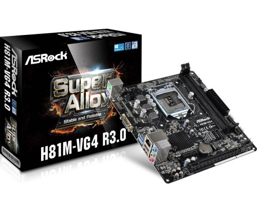 Материнская плата AS-ROCK LGA 1150 H81M-VG4 R3.0