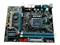 Материнская плата Foxcon (S-1156) FXN H55 (VGA) PCIE-X16 2XDDR3(8GBMAX) 4SATA LPT COM 4USB LAN
