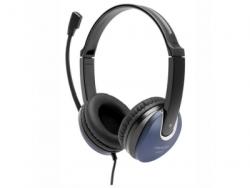 Наушники Microlab K290, Выходная мощность 50мВт,Тип крепления: Дуговые, Микрофон, 3,5 MiniJack*2, Регулятор громкости, Длина кабеля 2м, Чёрный