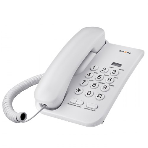 Телефон проводной Texet ТХ-212 серый