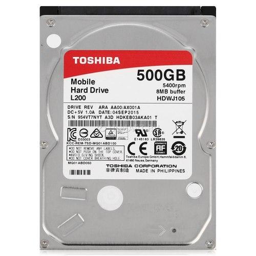 "Жесткий диск Toshiba 2.5"" L200, 500 GB HDD HDWK105UZSVA, 5400rpm, 8MB, for NoteBook, SATA 6 Gb/s"