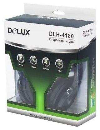 Наушники Delux DLH-4180, Микрофон, Чёрный