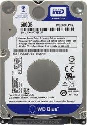 Жёсткий диск для ноутбука Western Digital WD5000LPCX Blue, HDD 500Gb