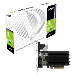 Видеокарта, PALIT, GT710 2048M 4710636268915, NEAT7100HD46-2080H, sDDR3, 64B, CRT, DVI, HDMI, Цветная коробка