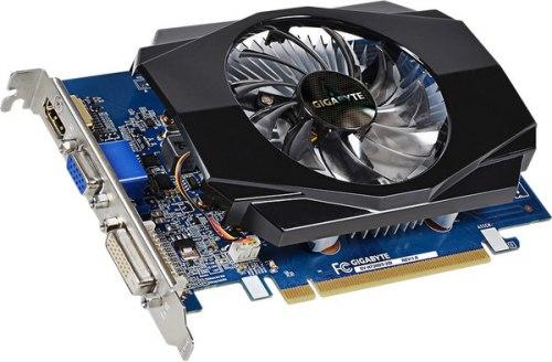 Видеокарта Gigabyte GeForce GT730, 2 GB SVGA PCI Express, nVidia VGA/DVI/HDMI, [GV-N730D3-2GI], DDR3/64bit