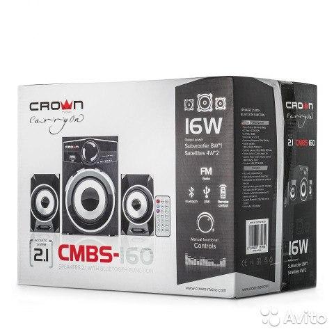Акустическая система Crown CMBS-160