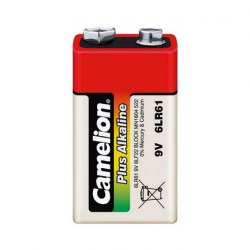 Батарейка CAMELION 6LR61-SP4, Plus Alkaline, 6F22(крона), 9V, 680 mAh