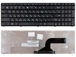 Клавиатура для ноутбука Asus N53/ K73/ X53/ K53/ G72/ G51/ G53, RU, черная