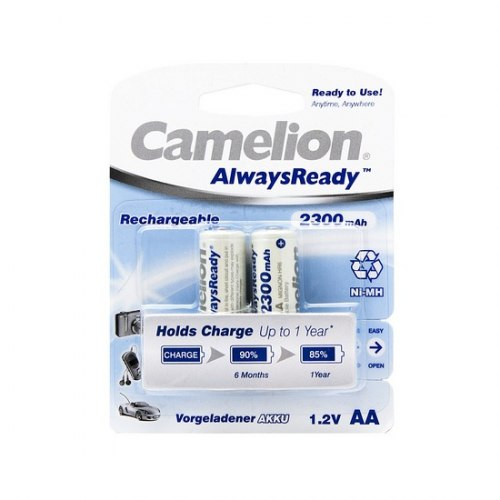 AA Аккумулятор CAMELION AlwaysReady Rechargeable Ni-MH NH-AA2300ARBP2