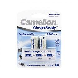 AA Аккумулятор CAMELION AlwaysReady Rechargeable Ni-MH NH-AA2300ARBP2