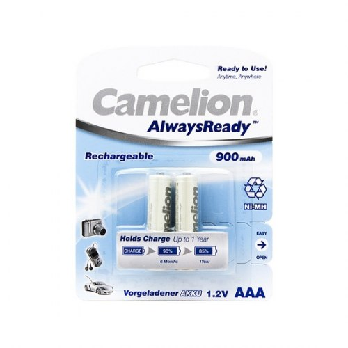AAA Аккумулятор CAMELION AlwaysReady Rechargeable Ni-MH NH-AAA900ARBP2