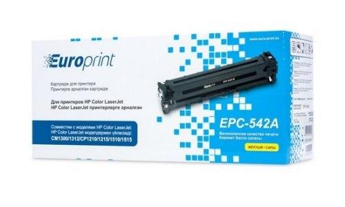 Картридж Europrint EPC-542A Жёлтый, Для принтеров HP Color LaserJet CM1300/1312/CP1210/ 1215