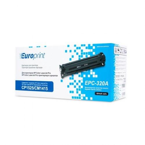 Картридж Europrint EPC-320A, Чёрный, Для принтеров HP Color LaserJet Pro CP1525/CM1415, 2000 страниц.
