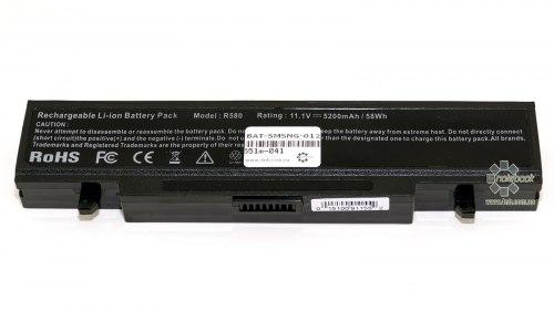 Аккумулятор для ноутбука Samsung R522/ 11,1 В/ 5200 мАч, черный