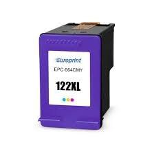 Картридж, Europrint, EPC-564CMY, №122xl, Для принтеров HP DeskJet 1000/1050/2000/2050/2054/3000/3050/3052/3054, 18 мл.