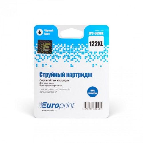 Картридж, Europrint, EPC-563BK, №122xl, Для принтеров HP DeskJet 1000/1050/2000/2050/2054/3000/3050/3052/3054, 18 мл.