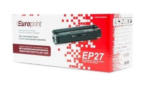 Картридж Europrint EPC-EP27, Для принтеров Canon MF3110/3220/3228/3240/5530/5550/5630/5650/ 5730/5750/5770, LBP-3200, 2500 страниц.