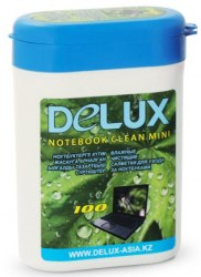 Чистящие салфетки, Delux, Notebook Clean Mini 100, Для ухода за ноутбуками 100 шт