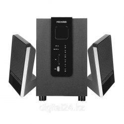 Акустическая система, Microlab, M100U, 2.1, 10Вт (2,5Вт*2+5Вт), Выход 2RCA, Вход 3.5 MiniJack, USB, SD , Чёрный