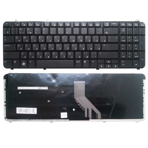 Клавиатура для ноутбука HP Pavilion DV6-1000, RU, черная